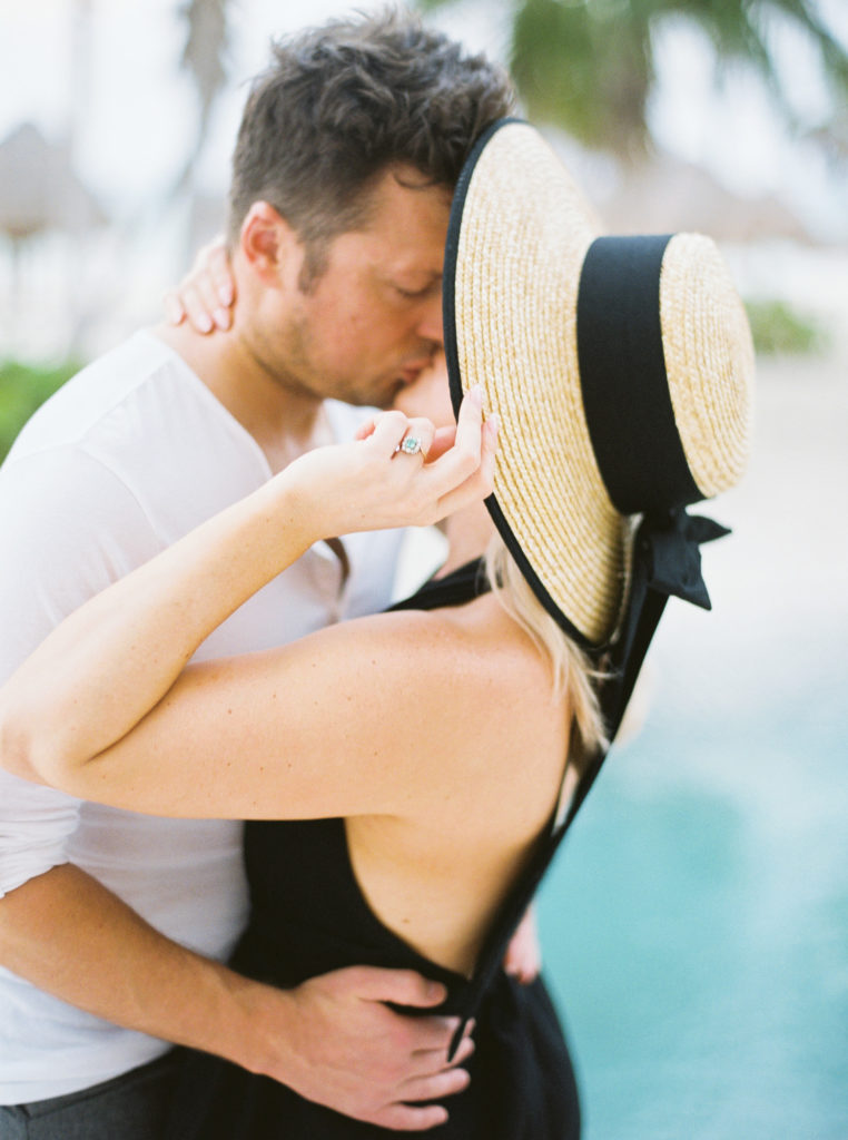 engagement session at secrets Maroma beach
