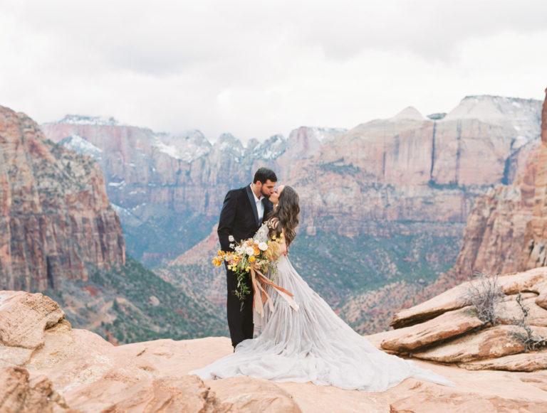 Zion wedding elopement photo by shannon skloss