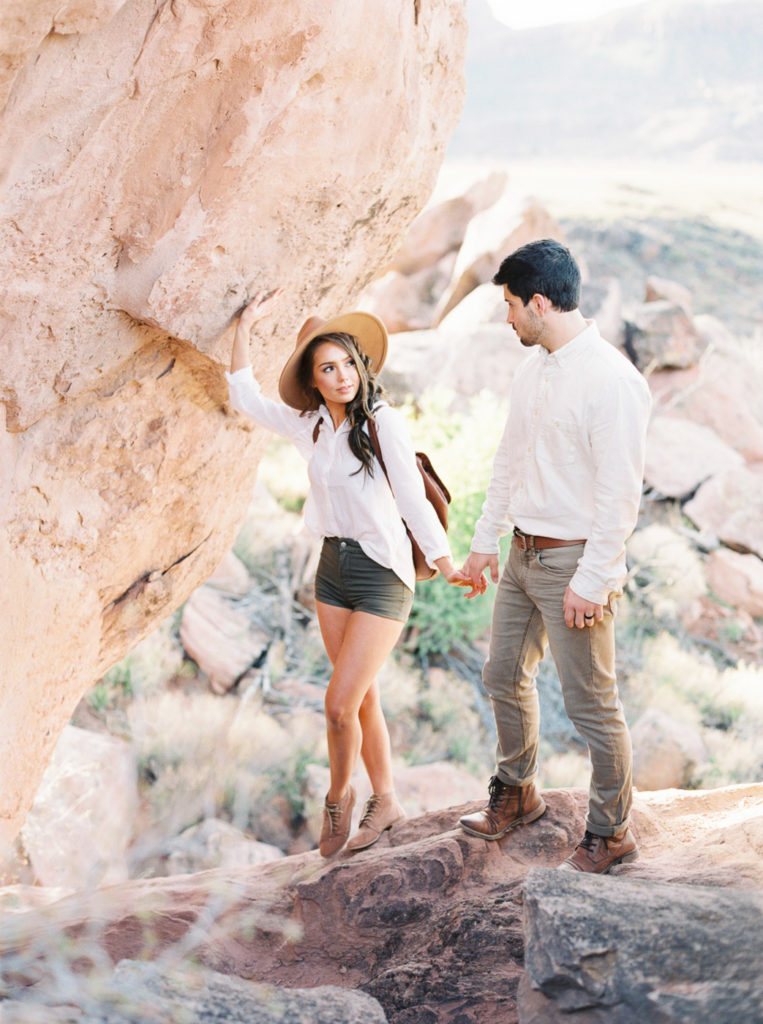 camping engagement photo session