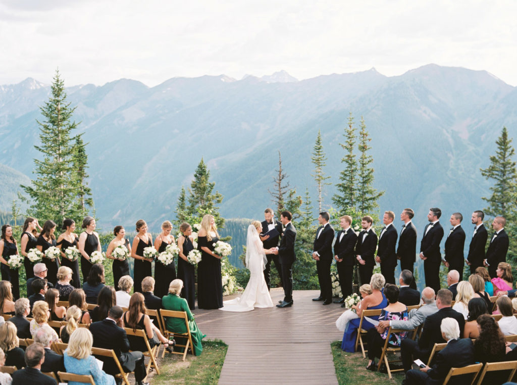 aspen sundeck wedding at little nell