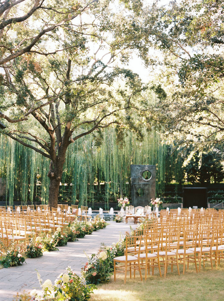 wedding ceremony at Nasher Dallas