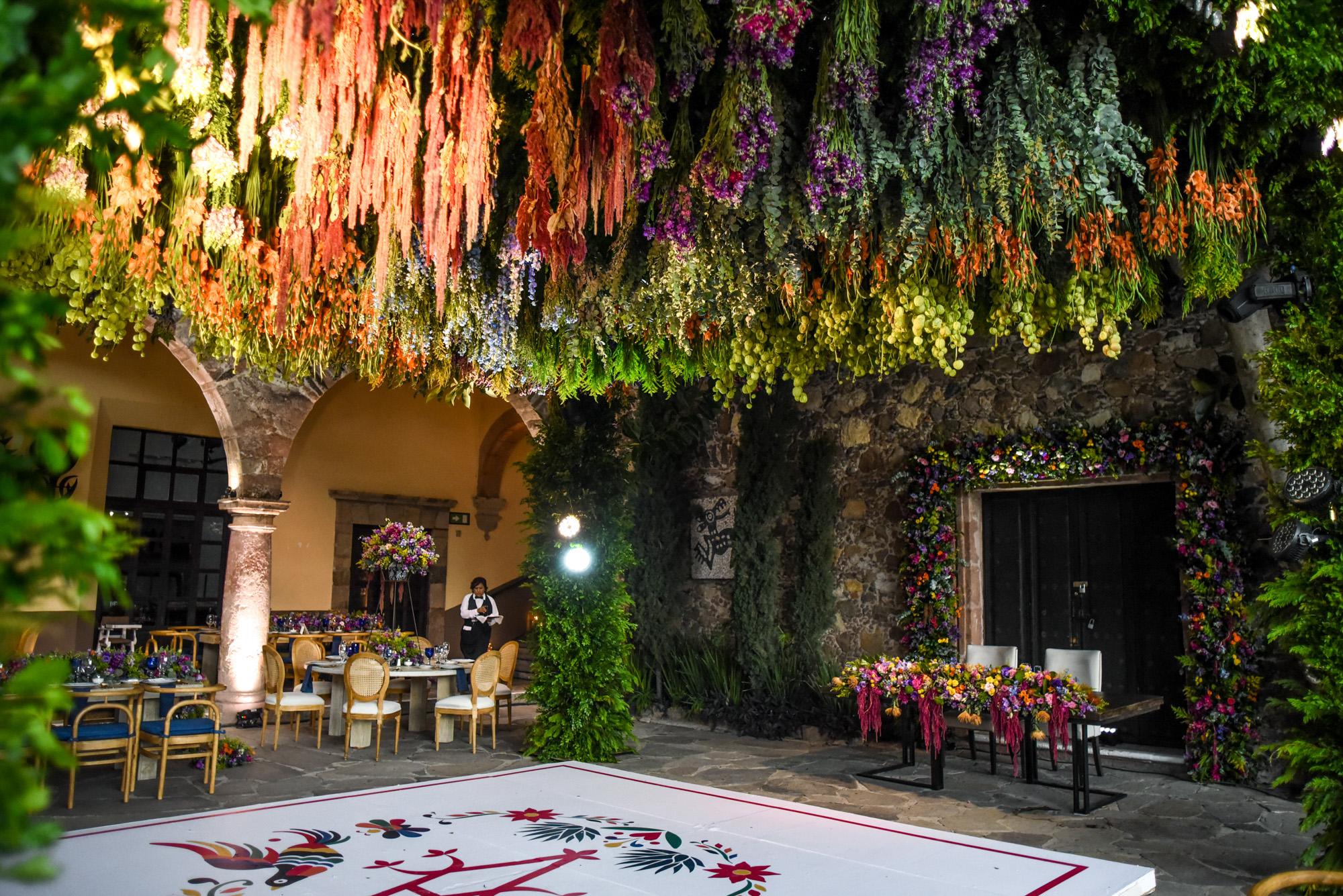 floral ceiling installation san Miguel